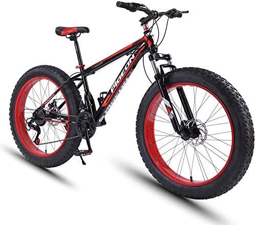 Aoyo 24 Speed-Mountain Bikes, 27,5-Zoll-Fat Tire Mountain Trail Bike, High-Carbon Stahlrahmen, Männer Frauen All Terrain Mountain Bike mit Doppelscheibenbremse
