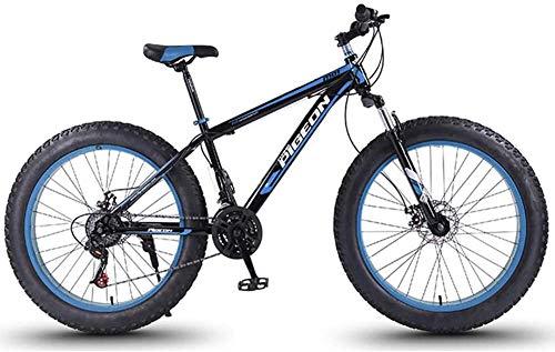 Aoyo 24 Speed-Mountain Bikes, 27,5-Zoll-Fat Tire Mountain Trail Bike, High-Carbon Stahlrahmen, Männer Frauen All Terrain Mountain Bike mit Doppelscheibenbremse,