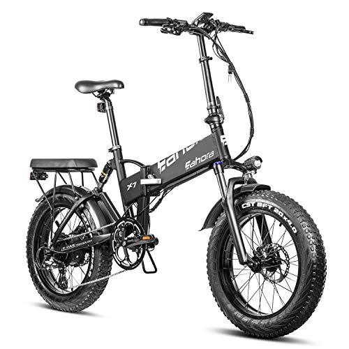 "BAYES Eahora X7 PRO ALU E-Bike 20"" Faltrad Elektrofaltrad Fat Tire Fatbike Akku 48V"