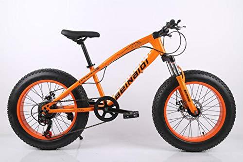 GuiSoHn 20 Zoll Fat Bike 4.0 Fat Tire Fahrrad Kinder Strand Schnee Bike 7/21/24/27 Gang Mountainbike Dual Scheibenbremse Fahrrad Einheitsgröße GuiSoHn-514688261