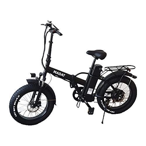 Madat-1 20 Zoll E-Bike E-fatbike mit 500w Bafang Motor 12,8 Ah Akku Hydraulisch bremsen Schimano Gang Flatbar E fahhrad Schnee Ebike Off Road Bike 3 Mode Drive ohne Pedal,mit Pedal,und zusammen