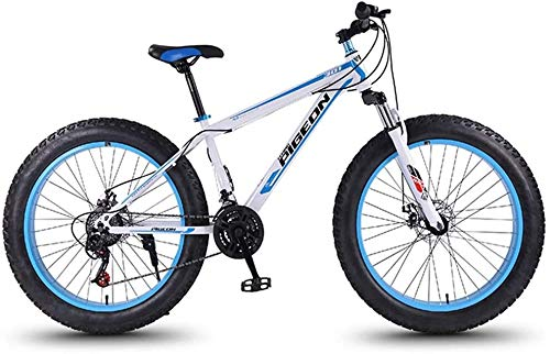 Nologo Fahrrad 24 Speed-Mountain Bikes, 27,5-Zoll-Fat Tire Mountain Trail Bike, High-Carbon Stahlrahmen, Männer Frauen All Terrain Mountain Bike mit