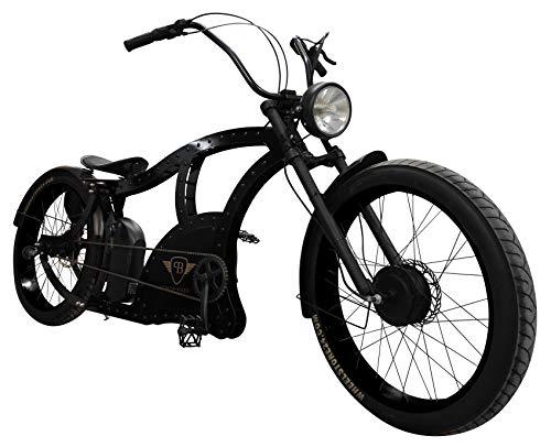 Power-Bikes, Pedelec, E-Bike 250W Fatbike, Cruiser, Fahrrad, schwarz, Black