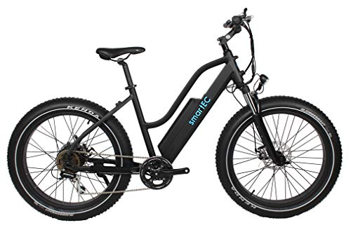 smartEC RockX-26T Trekking Winter Fat-Bike, E-Bike, Pedelec, 26 Zoll, Samsung Li-Ion-Akku 14AH, Fahrunterstützung 25km/h, 48V 250 Watt Heckmotor, Reichweite 120 km, 7 Gänge