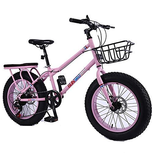 WQY 4.0 Großen Reifen MTB 20 Zoll Fat Tire Bike Fahrrad 7-Gang-Berg Fahrrad Hohe Qualität Schnee Fahrrad Strand Fahrrad,Rosa