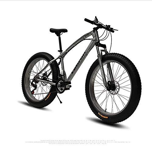 XIAOFEI Stahlscheibenbremse 4.0 Tire 26 Zoll Hersteller MTB Mountainbike und Beachbike, Elektrostatische Lackierung Fatbike mit mechanischer Scheibenbremse,A2,24