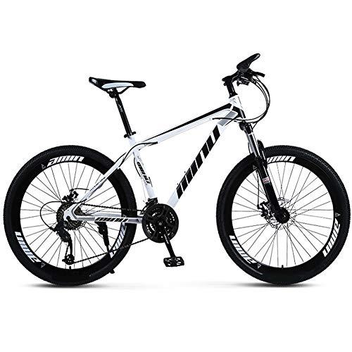 YGTMV Mountainbike Scheibenbremse Stoßdämpfung 21/24/27/30 Geschwindigkeiten Scheibenbremsen Fat Bike 24-26 Zoll 40 Messer Erwachsene Im Freien Student Berg Schnee Fahrrad,24 inch,21 Speed
